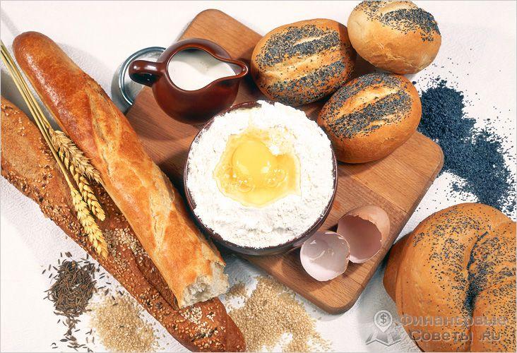 Оборудование пекарни и сырье